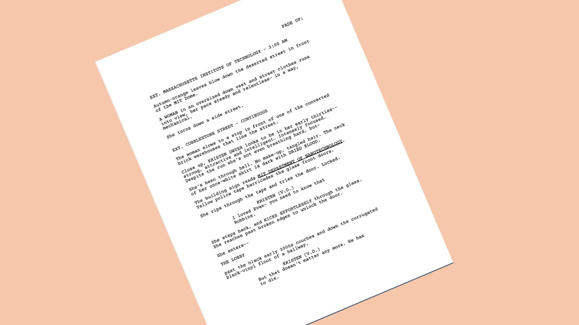 screenwriter page